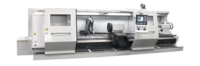 Horizontal precision turning centers with 5 guides and a slide-through support MCM 5-STAR